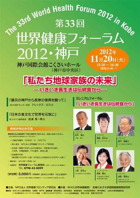 第33回 世界健康フォーラム 2012 神戸